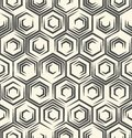 Seamless Monochrome Wallpaper. Minimal Textile Graphic Design Royalty Free Stock Photo