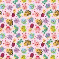 Seamless monster pattern Royalty Free Stock Photography