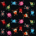 Seamless monster pattern Royalty Free Stock Photos