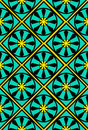 Seamless Moroccan tile wallpaper Stock Images