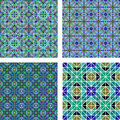 Seamless mosaic background set Royalty Free Stock Photo