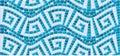 Seamless mosaic pattern blue ceramic tile classic geometric ornament Royalty Free Stock Photography