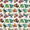 Seamless motorcycles pattern Royalty Free Stock Photo