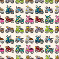 Seamless motorcycles pattern Royalty Free Stock Image