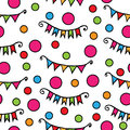 Seamless with multicolor circle and small flags Royalty Free Stock Photo
