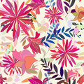 Seamless multicolor floral pattern Stock Photography