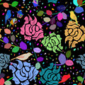 Seamless multicolor floral pattern Royalty Free Stock Photos