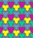 Seamless multicolor mosaic pattern.