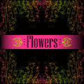 Seamless multicolored beautiful flower pattern. Royalty Free Stock Images