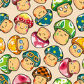 Seamless mushroom pattern Stock Images
