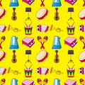 Seamless music pattern Stock Photos