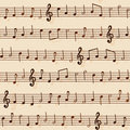 Seamless Musical Notation Pattern Stock Photo