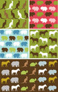 Seamless natural animal pattern, animal texture Stock Image