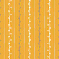 Seamless nature sketch vector pattern. Yellow beige and white twigs background. Hand drawn summer texture illustration