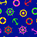 Seamless nautical pattern suitable for kids