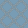 Seamless nautical rope knot pattern Royalty Free Stock Photo
