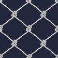 Seamless nautical rope knot pattern Royalty Free Stock Photo