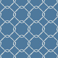 Seamless nautical rope knot pattern. Royalty Free Stock Photo