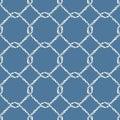 Seamless nautical rope knot pattern. Royalty Free Stock Photo