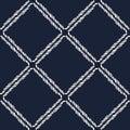 Seamless nautical rope pattern. Half knots