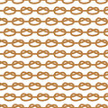 Seamless nautical rope pattern. Endless navy illustration with white loop ornament.