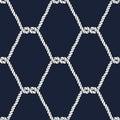 Seamless nautical rope pattern. Carrick Bend knot