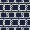 Seamless nautical rope pattern - Half knots