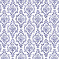 Seamless Navy Blue & White Damask Stock Image