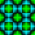 Seamless Neon Light Pattern. Abstract Blue and Green Background Royalty Free Stock Photo