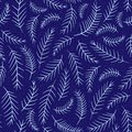 Seamless new year tree branch pattern with snow