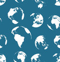 Seamless no contours globes pattern. Navy blue color Royalty Free Stock Photo