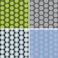 Seamless octagon pattern set colored Stock Photography