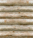 Seamless old wooden logs Stock Image