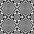 Seamless op art geometric pattern. Royalty Free Stock Photo