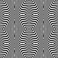 Seamless op art texture zebra pattern design vector Stock Image