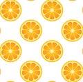Seamless Orange Fruit Pattern