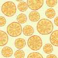 Seamless orange texture, endless fruit background. Abstract citrus pattern. Royalty Free Stock Photo