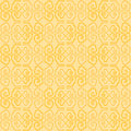 Seamless oriental pattern tile with swatch global color swatches applied Royalty Free Stock Photography