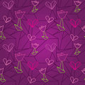 Seamless origami pattern with hearts Royalty Free Stock Photo