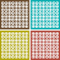 Seamless ornament pattern set abstract background Royalty Free Stock Image