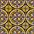 Seamless ornament pattern with violet flower Royalty Free Stock Images