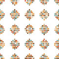 Seamless ornament retro circles from illustration Royalty Free Stock Image