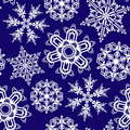 Seamless ornament with snowflakes Stock Photo