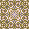Seamless ornamental circles pattern in brown colors