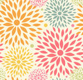 Seamless ornamental floral pattern decorative cute background with round flowers Royalty Free Stock Photography