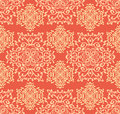 Seamless ornamental pattern abstract in orange and pastel colors Royalty Free Stock Images