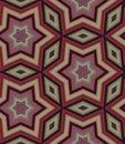 Seamless ornamental pattern from stars