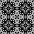 Seamless ornate abstract pattern vector Royalty Free Stock Photos