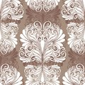 Seamless ornate abstract pattern vector Stock Photo