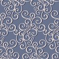 Seamless ornate abstract pattern vector Royalty Free Stock Photo